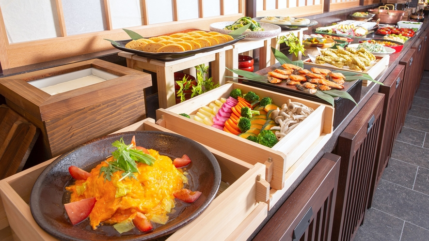 【NEW】朝食ビュッフェイメージ1(ビュッフェ台)