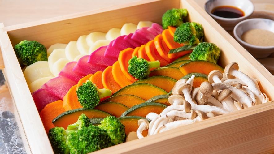 【NEW】朝食ビュッフェイメージ10(野菜のせいろ蒸し)