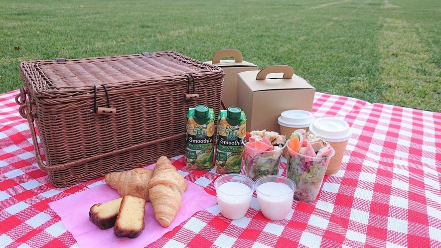 公園で朝食(イメージ)