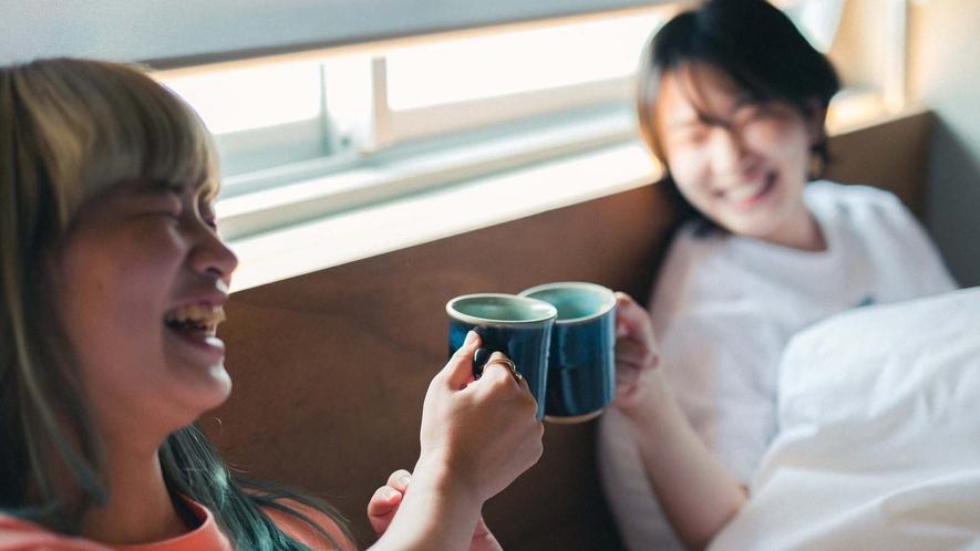 ・コーヒーで乾杯♪