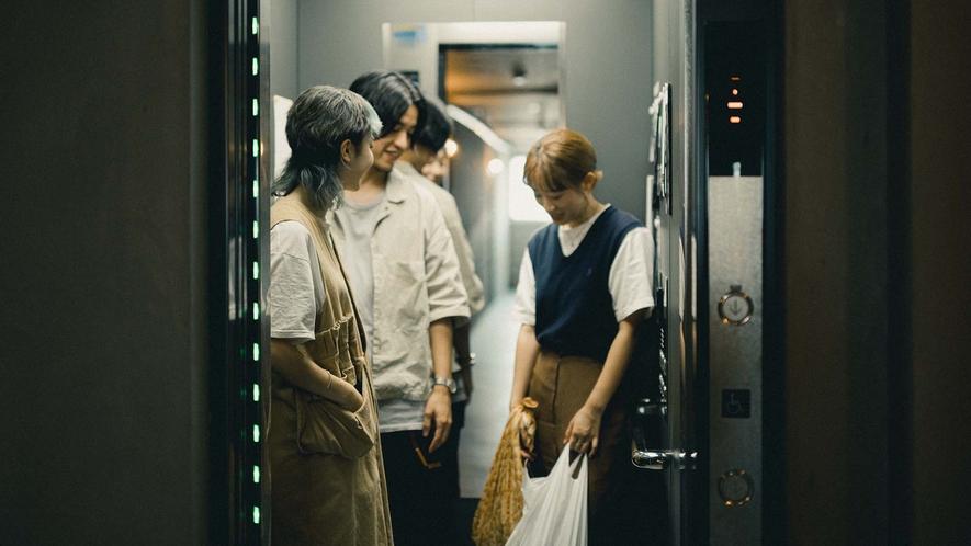 ・エレベーターの様子