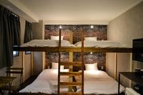 6人個室B (202,205)〔2段ベッド×3〕