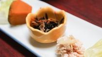 *【夕食一例】季節の前菜。その時々に厳選した食材をお出しします。