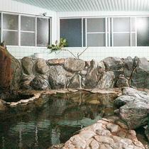 *【大浴場】源泉掛け流しの温泉を満喫♪岩風呂(女湯)