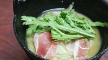 *【夕食一例】グレードアップ料理用の季節のお鍋。体の中から温まります。