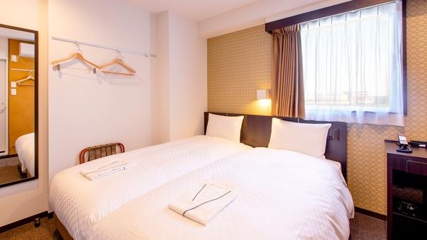 【禁煙】ツインルーム/ベッド幅90cm2台/15平米