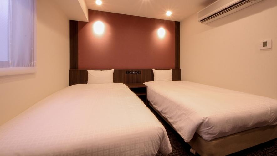 ツインルーム<16.5㎡/ベッド幅120cm×2台>