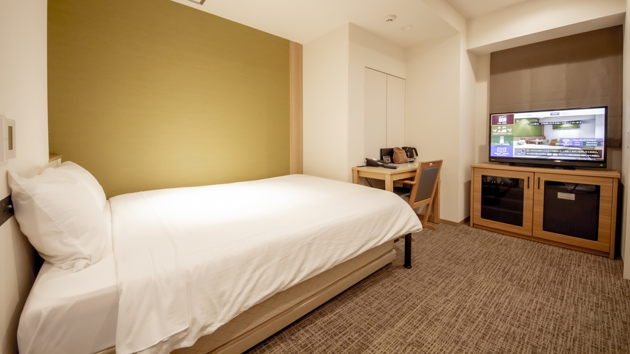 ワイドダブルルーム<16.5㎡/ベッド幅140cm+スライドベッド90cm>