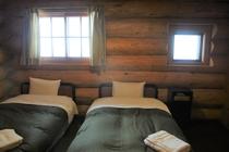 log house bed room