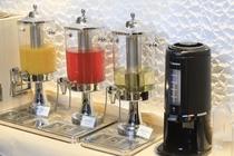 オレンジジュース・アセロラドリンク・はちみつリンゴ酢