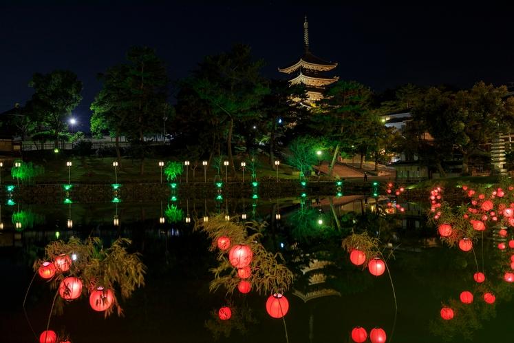 猿沢池 ライトアップ