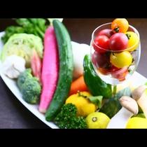 新鮮で旬の野菜を是非味わってください!*素材イメージ