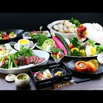 料理人が厳選した旬の食材を存分にお楽しみください。*お写真は素材・別注イメージ