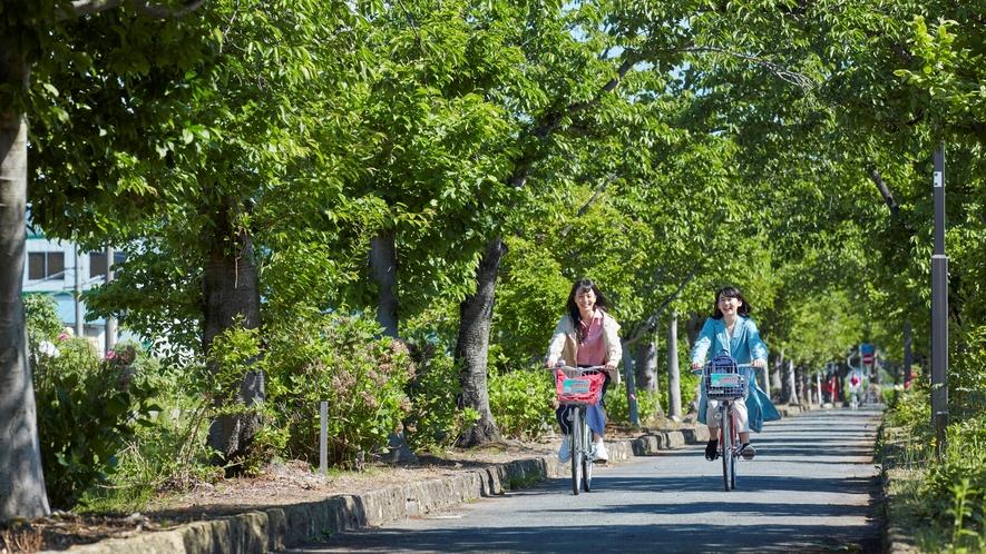 ■まほろばの緑道(約6km):散策やサイクリングに最適です!レンタサイクル(有料