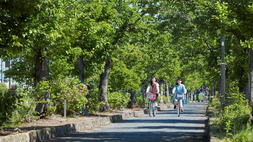 ■まほろばの緑道■まほろばの緑道(約6km):散策やサイクリングに最適です!レンタサイクル(有料