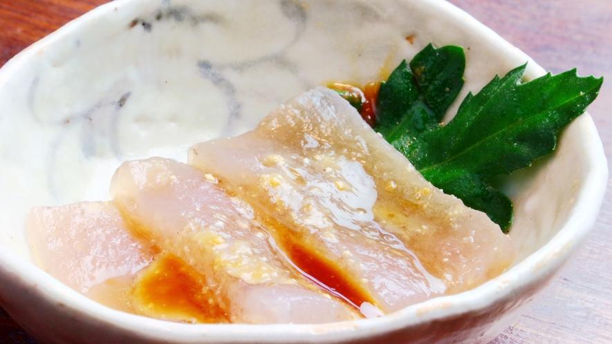 夕食◆自然豊かな地で作った刺身こんにゃくは絶品