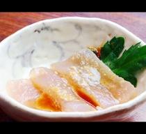 夕食◆自然豊かな地で作った刺身こんにゃくは絶品(共同調理)