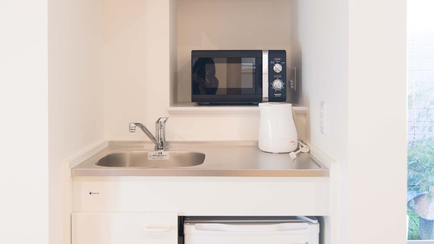 ・【Room1】室内にミニキッチンを完備