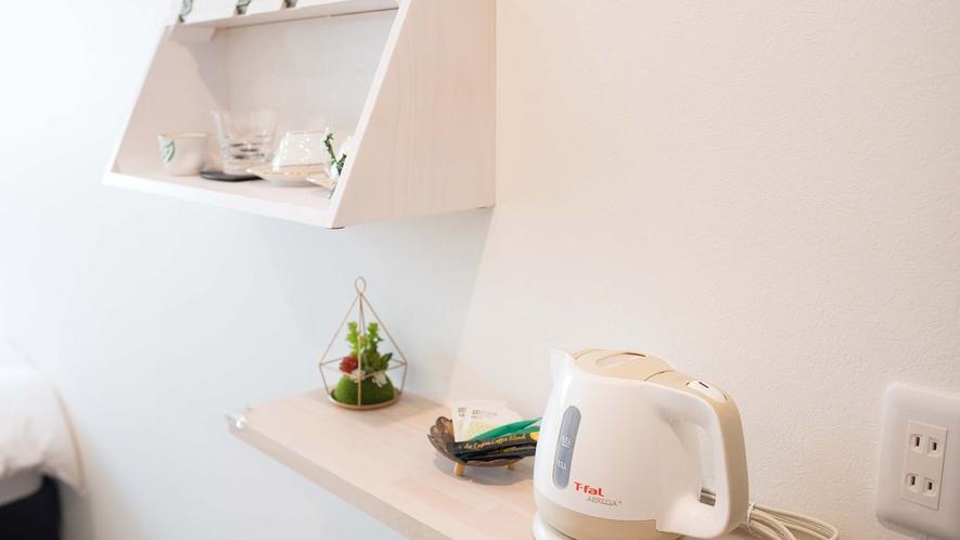 ・【Room2】湯沸かしポットやお茶セットもご用意
