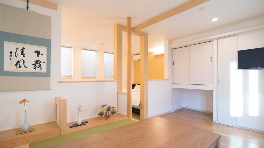 ・【Room1】白を基調とした和モダンなインテリア
