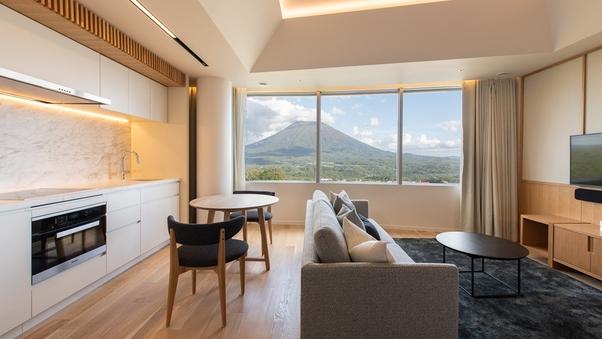 スタジオルーム(38平米/ツイン/キッチン付き)羊蹄山ビュー