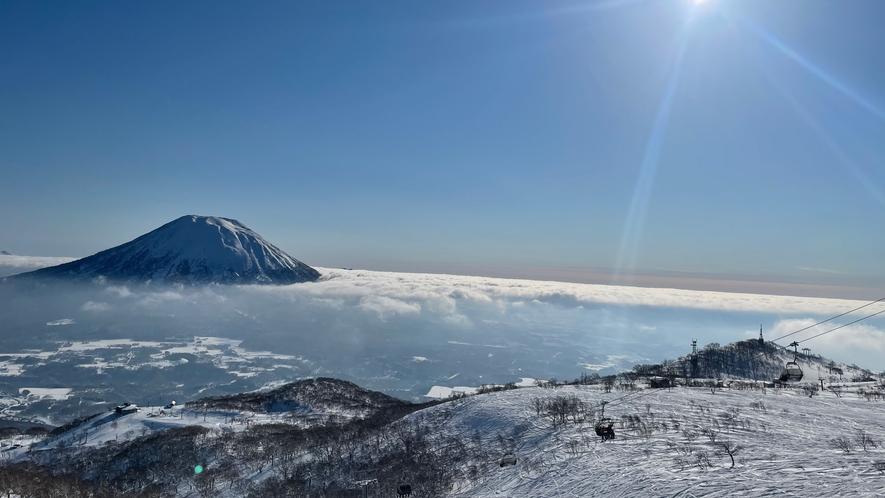 羊蹄山と雲海