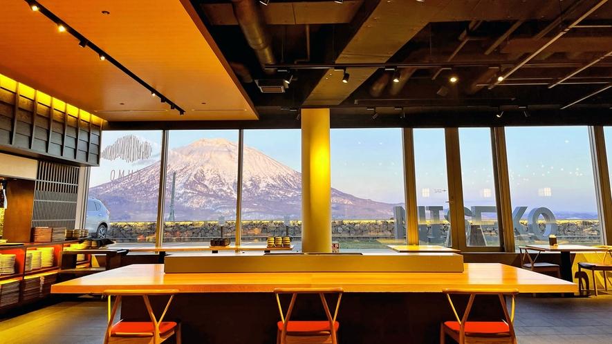 【雲レストラン】天気の良い日には羊蹄山が望めます