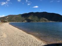 徒歩1分でビーチです