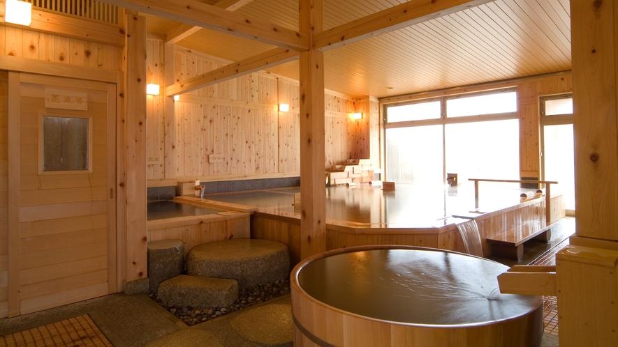 隣接する「匠の宿 深山桜庵」大浴場内湯