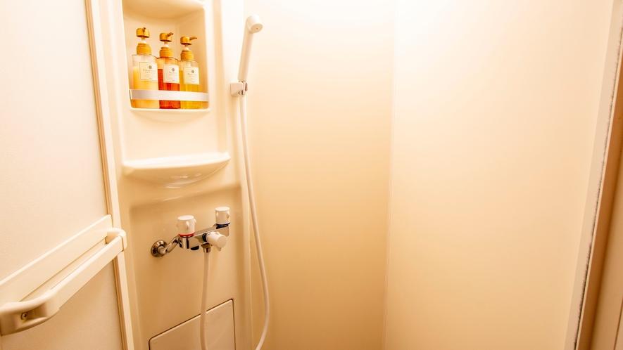 全部屋にトイレシャワー付き