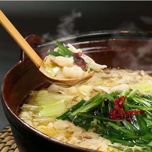 京風もつ鍋京風もつ鍋(日替わり)は白味噌仕立てで、やさしい風味に仕上げました。