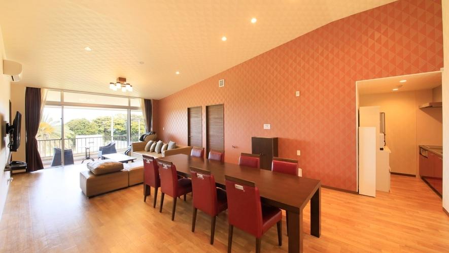 Gdタイプ一例 3ベッドルームを備えた8名定員のお部屋。当館で一番広いお部屋です。