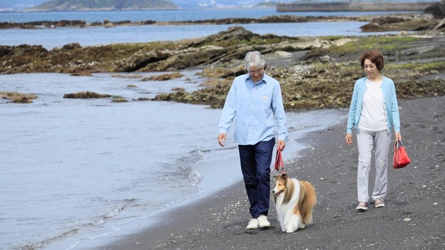 見物海岸 海際のお散歩で心地いい時間をお過ごしください。