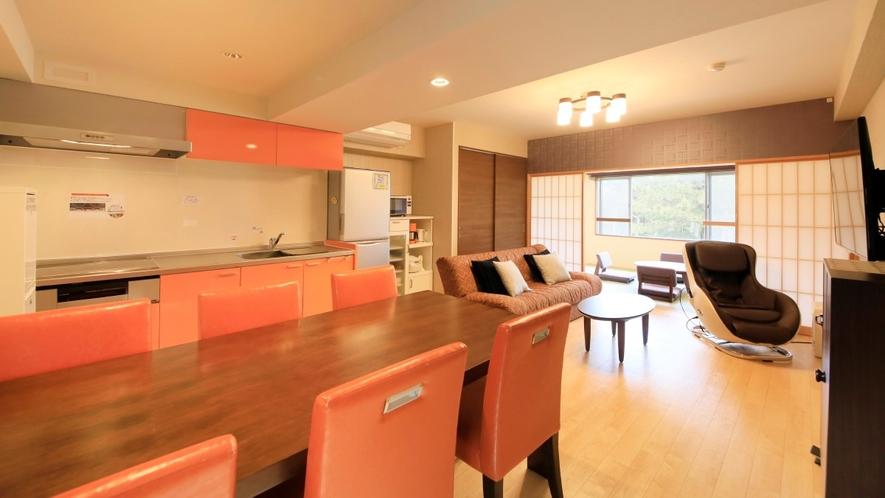 Ddタイプ一例 寝室を2室備えた6名定員のコンドミニアムタイプの客室。
