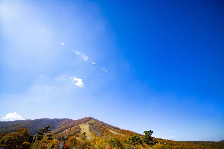 紅葉の斑尾山