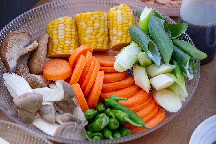 BBQ手ぶらプラン(野菜盛り合わせ一例)