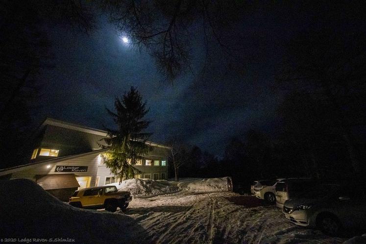 施設外観(冬季夜)