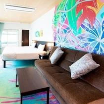 デザイナーハリウッドツイン【MIKAルーム】1301号室