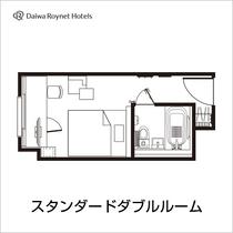 18平米のスタンダードなお部屋。※こちらのお部屋タイプはユニットバスとなります。