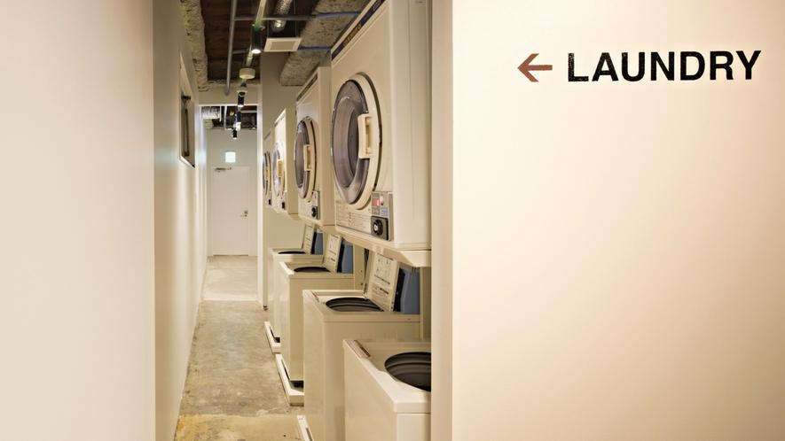 ■ランドリーコーナー/洗濯機、乾燥機完備で安心♪ ※有料