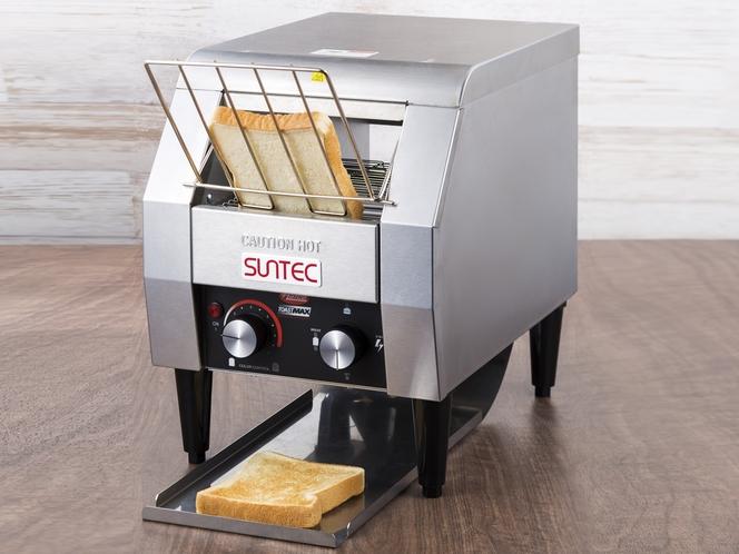 【コンベアトースト】食パンが約1分で両面カリっと焼き上がります