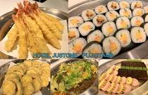 【ご夕食バイキング】 天ぷら、焼きそば、巻き寿司、ケーキ