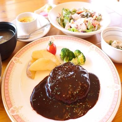 【巡る旅出会う旅 東北 食】 白金豚ハンバーグとほろほろ鳥のシーザーサラダセット