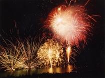 田瀬湖湖水まつりの花火大会