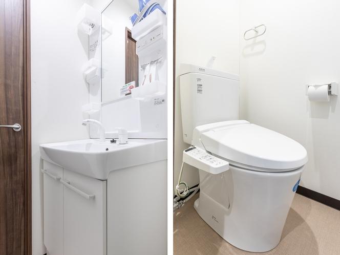 【禁煙】ツインルーム 洗面j所・トイレ