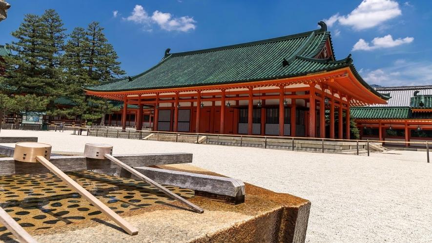 【観光情報】平安神宮と手水