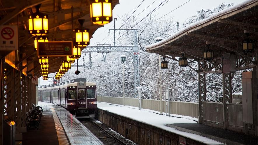 【観光情報】嵐電の冬