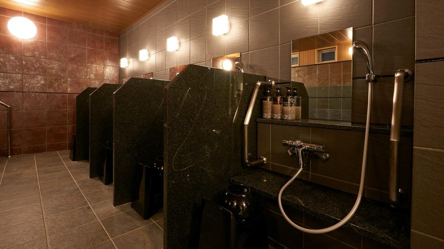 【大浴場】洗い場(男性用)