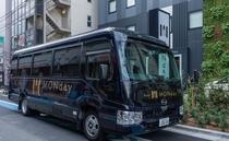 舞浜行きの無料シャトルバスが毎日運行中!