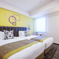 【スーペリアツインルーム】24.4~26.1㎡。バスタブ付、ベッド2台で快適なご滞在を実現。